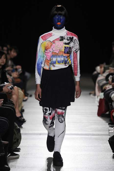 Androgynous Anime Collections - The Mikio Sakabe Fall 2012 Runway Show is Avant-Garde