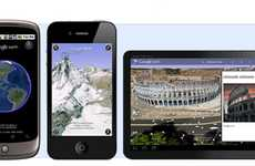 Geographical Information Apps - The Updated Google Earth Mobile Edition Features Custom Maps