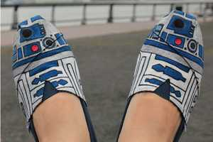 The R2D2 Shoes are Perfect Pieces of Droid Footwear