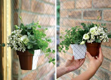 Magnetized Flower Pots