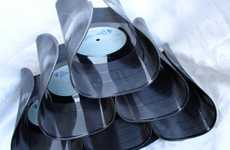 Recycled Record Wine Racks - Karen Dengler Offers a Conversation Starter on Her Etsy Shop