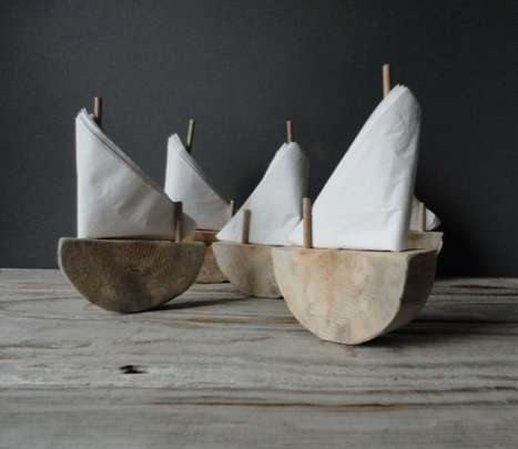 Wooden Sail Serviettes