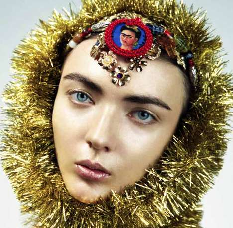 Tinsel-Adorned Editorials