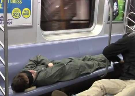 Sleeping Subway Beds