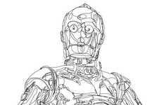 Single Line Sci-Fi Drawings