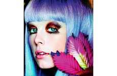 68 Pastel-Hued Hairdos - From Psychedelic Beauty Shoots to Brightly-Colored Bowl Cuts