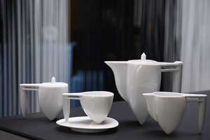 The NewChi 'Ballet' Tea Set Stands Precariously But Beautifully