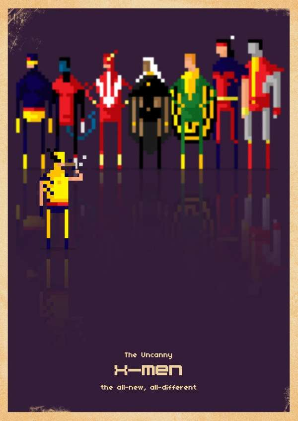 Pixelated Pop Culture Ensembles