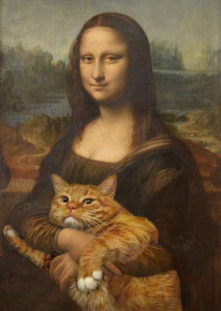 Feline-Infused Satirical Art