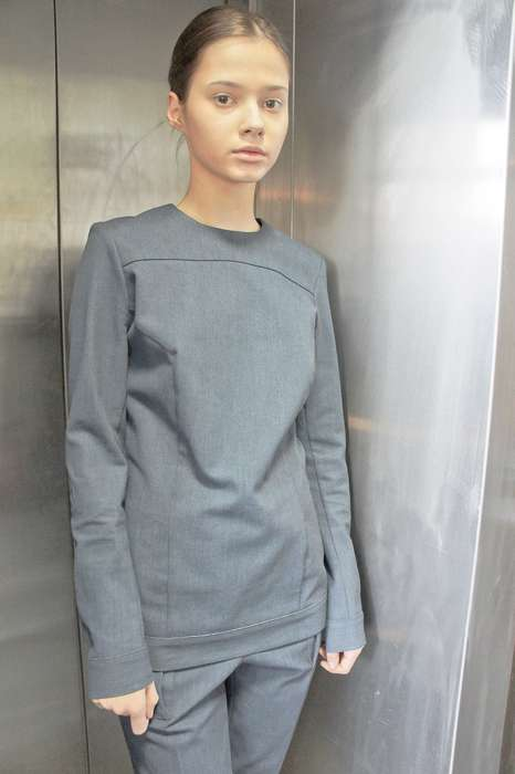 Elevator Fashion Shows - The Ksenia Schnaider 2013 Fall/Winter Collection is for the Working Class