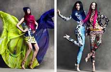 Electrically Patterned Editorials - The Flare April 2012 Shoot by Chris Nicholl is Boldly Vibrant