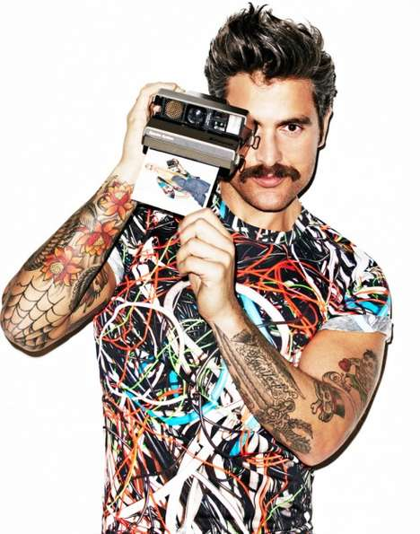 Moustached Photographer Ads