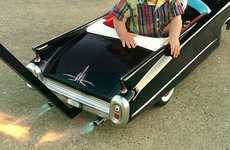 Luxury Auto Baby Cruisers - Custom Made Cadillac Baby Stroller Shoots Out Real Flames