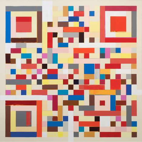 Abstract Barcode Paintings