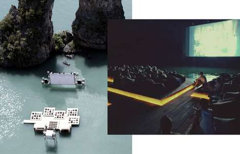 Floating Movie Theaters - The Archipelago Cinema Offers a Watery Film Experience
