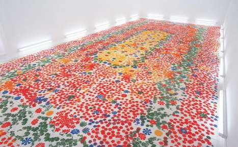 Floral-Infused Floor Installations