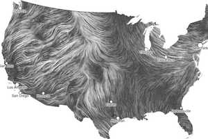 The National Weather Service 'Wind Map' is an Airy View of the U.S.