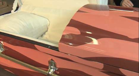 Food-Inspired Funeral Gear - The J&D's Foods Bacon Coffin Makes The Afterlife a Sizzle