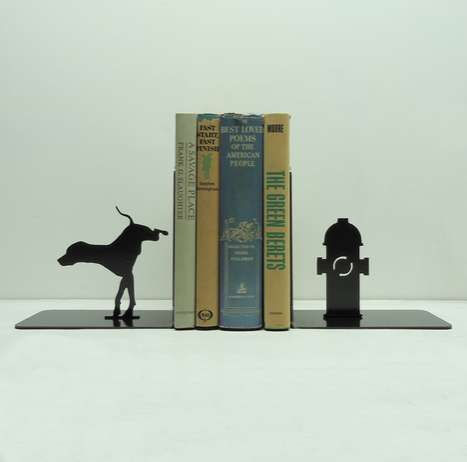 Canine-Tinkling Shelf Mates - These Fire Hydrant Bookends Will Get Your Novels Wet Unless You Read