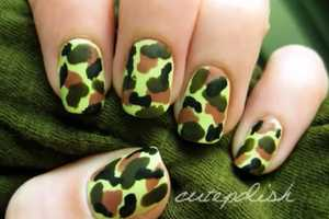 This Camouflage Nail Art by Cutepolish is Rugged Yet Chic
