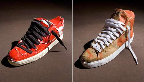 Cardboard Sneakers - I HAVE POP Creates Shoes Made Out Boxes