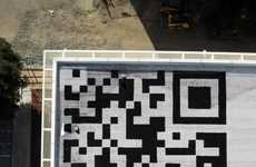 Bar Code Buildings - The Facebook HQ QR Stamp is Spotted from Space