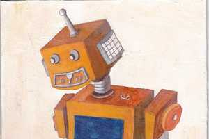 Anand Mistry Illustrates Mechanical Humanoids with a Vintage Aesthetic