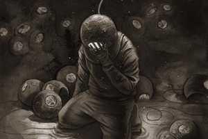 Michael Manomivibul Illustrates Underwater Explorers in Dark Scenarios