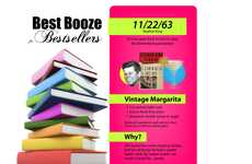 The 'Best Booze for Bestsellers' Infographic by Ryan Gielen is Buzzed