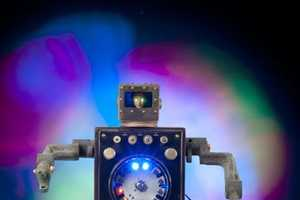 The Talbotics 'Robot Night Lights are' Crafted from Re-Purposed Junk