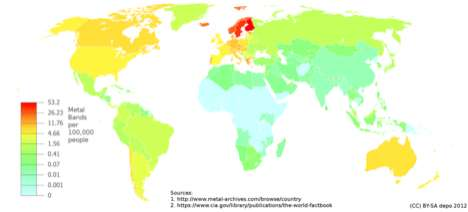 metal bands per capita