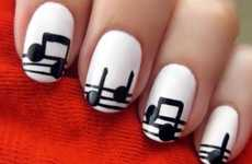 Painted Musical Fingertips - These Rhythmic Manicures by Cutepolish are Simple and Cute