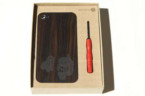 engravable material6 wooden iphone cover