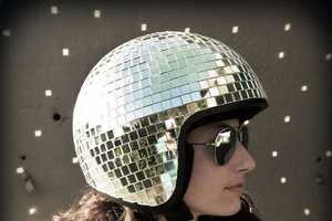 A DIY Disco Helmet Makes a Two-Wheeled Commute Super Groovy