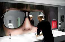 Reflective Marketing Campaigns - The Riviera Hotel Uses Mirrored Stickers for Promotion