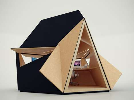 Compact Corporate Spaces - The Tetra Shed by Innovation Imperative Changes the Way We Work From Home