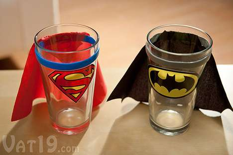 superhero pint glasses