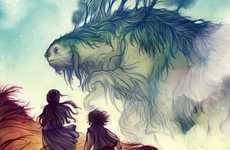 Gigantic Sloth Fantasy Scenes
