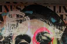 Street Artist Dain Fuses Mixed Media, Wheatpasting and Collage