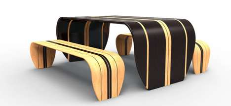 duffy london surf ace table and bench