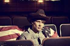 Cinematic Cowboy Captures - The Vangardist 'My Lonely Hero' Editorial Features Retro Westernwear