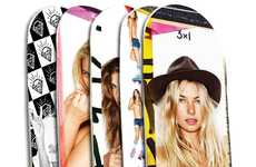 Seductive Custom Decks - The 3X1 Denim/Ben Watts Skateboards are Flashy and Charitable