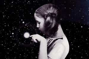 Rebecca Roe Creates Collages Blending Retro Photos and Images of Space