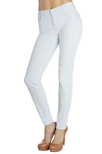 Plain Pastel Jeans  - J Brand Presents Minimalist Pants for Spring and Summer