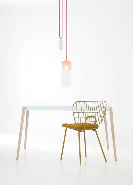 porcelain and gradient pendant lamps