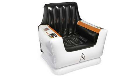 star trek inflatable captain s chair