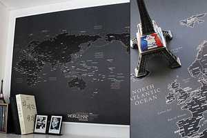 The Black World Map Embraces the Aesthetics of the Contemporary Traveler