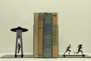 These Bookends by Knob Creek Metal Arts Encompass Your Stories Within a Story