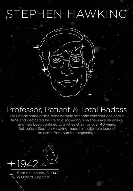 awesomeness of stephen hawking infographic