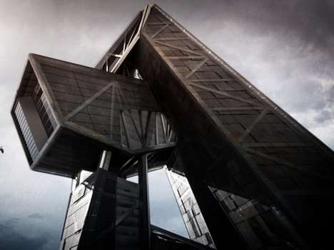 Sleek Sci-Fi Prisons - The 499.summit Concept by Greg Knobloch and Andreas Tjeldflaat is Futuristic